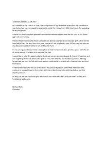 Chairman Report 2017
